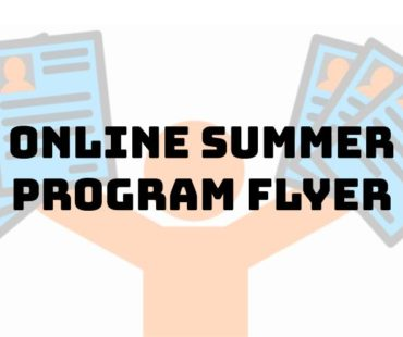 Flyer for Online Summer Program